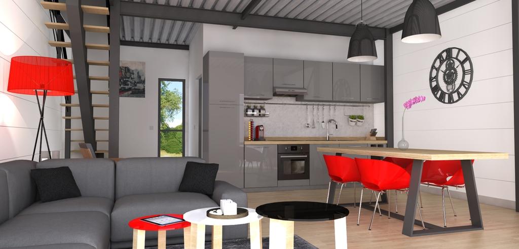 Maison basse consommation reims maison bbc champagne for Modele maison loft
